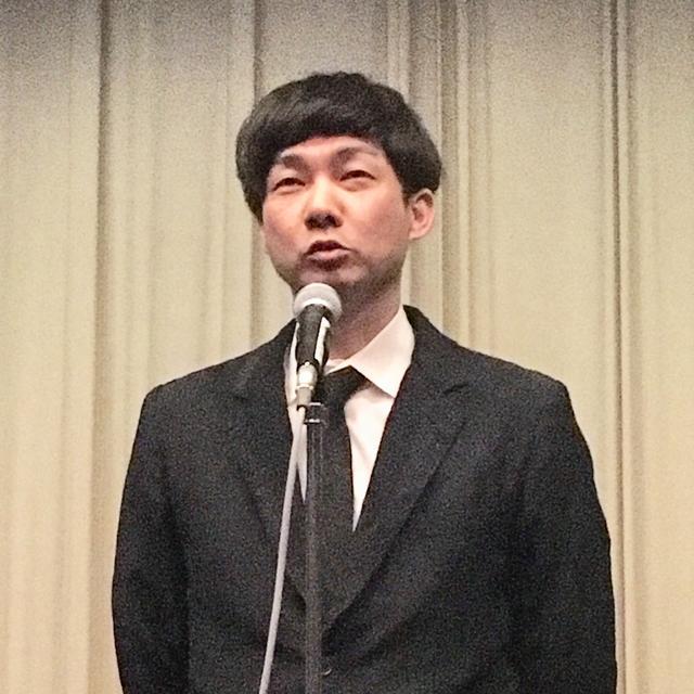 画像: 受賞スピーチをする松永大司監督