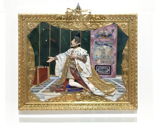 画像: ヨナス・ファルク ミケーレ・カストルッチ グアルティエーリ・ディ・アンニバレ・チェッキ ジュリオ・パリージの下絵に基づく《コジモ2世・デ・メディチのエクス・ヴォート(奉納品)》 1617-1624年 ピエトレ・ドゥーレ(貴石モザイク) 金 多色七宝 ダイヤモンド 鍍金ブロンズ フィレンツェ ウフィツィ美術館(銀器博物館)蔵 ⓒFirenze, Gallerie degli Uffizi, Museo degli Argenti photo©cinefil