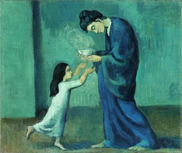 画像: パブロ・ピカソ《スープ》1902 年 油彩/キャンバス 38.5×46 cm オンタリオ美術館 Art Gallery of Ontario, Toronto Gift of Margaret Dunlap Crang, 1983 83/316 ©2016-Succession Pablo Picasso-SPDA[JAPAN]