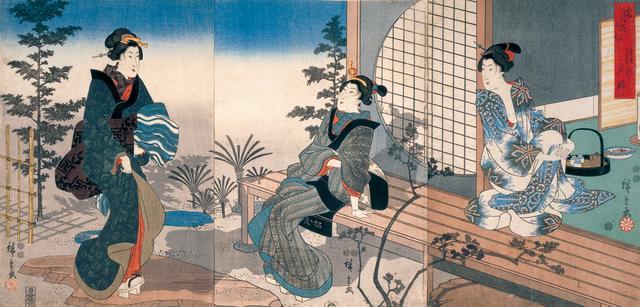 画像: 歌川広重  雪月花の内・月の夕べ