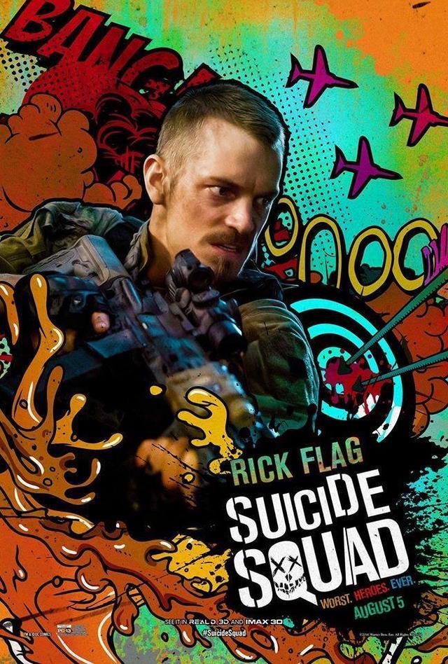 画像: リック・フラッグ – ヨエル・キナマン https://www.facebook.com/SuicideSquad/