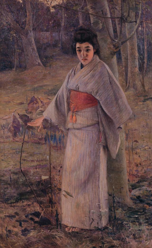 画像: 金山平三《秋の庭》1909年