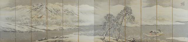 画像: 橋本関雪《山陰訪雪図》1916年