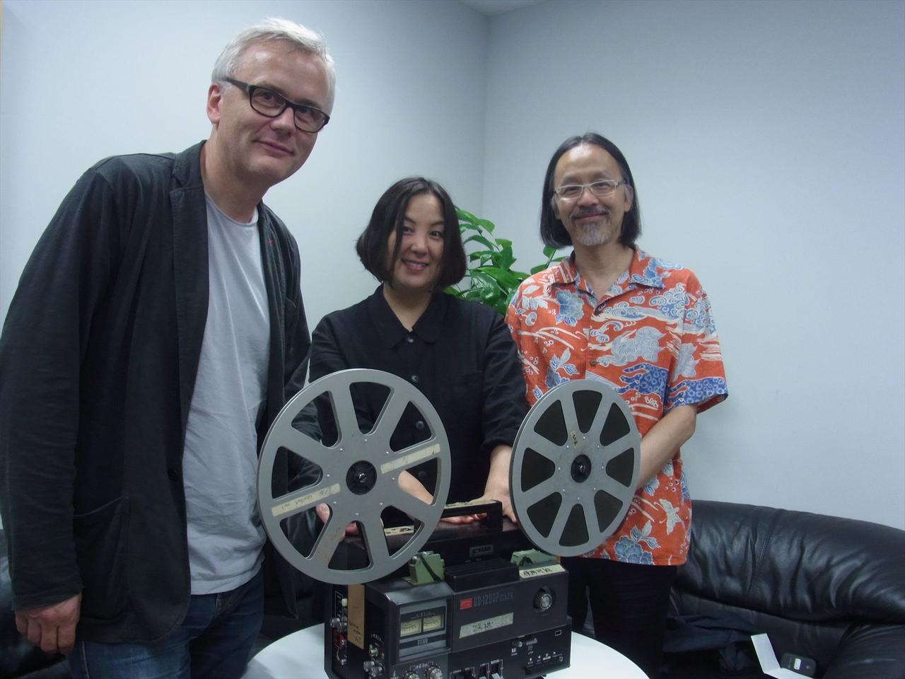 画像: (左から)ベルリン国際映画祭フォーラム部門ディレクターのクリストフ・テルヘヒテ氏、PFFディレクターの荒木啓子、香港国際映画祭キュレイターのジェイコブ・ウォン氏