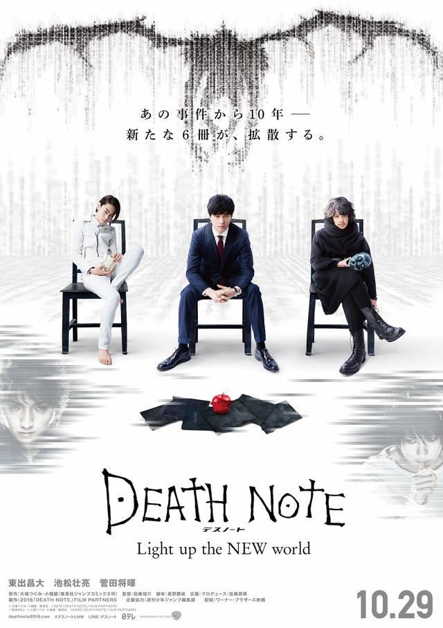 画像: http://cinefil.tokyo/_ct/16957400 (C)大場つぐみ・小畑健/集英社 (C)2016「DEATH NOTE」FILM PARTNERS