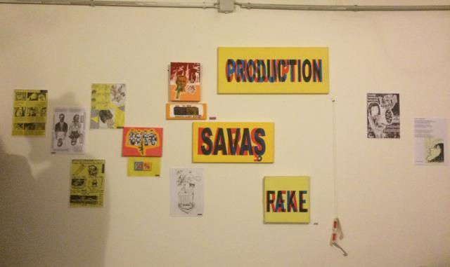 画像: リリースパーティーで展示されていた雑誌に使われた作品や原画