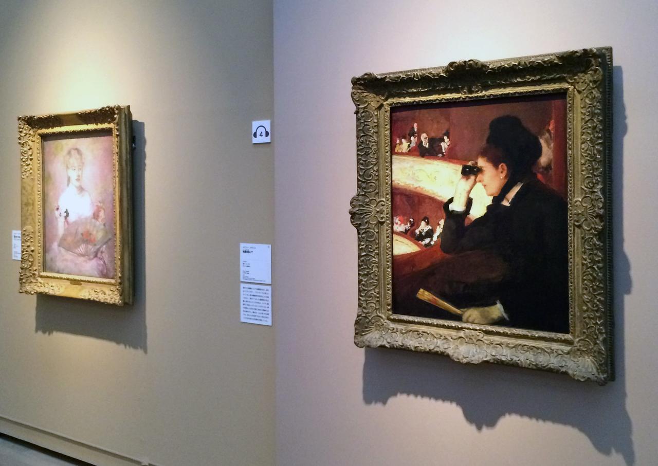 画像: 右手前:メアリー・カサット《桟敷席にて》1878年 油彩、カンヴァス、ボストン美術館蔵 photo©cinefil
