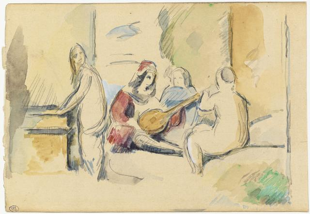 画像: ポール・セザンヌ《ジョルジョーネの「田園の合奏」より》1878年 ルーブル美術館素描画室蔵 © RMN-Grand Palais (musée d'Orsay) / Tony Querrec / distributed by AMF