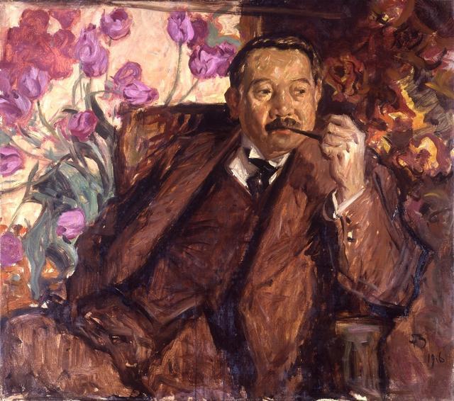 画像: フランク・ブラングィン《松方幸次郎肖像》1916年 松方家蔵 © David Brangwyn