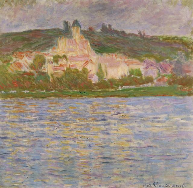 画像: クロード・モネ《ヴェトゥイユ》1902年 国立西洋美術館