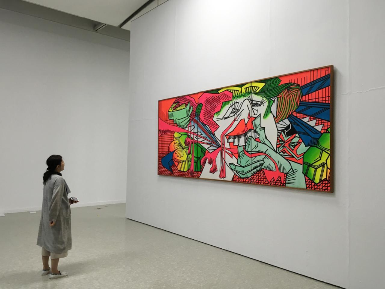 画像: 篠原有司男 Shinohara Ushio (1932-  ) 「おいらん」 油彩、カンヴァス 160×390cm 1967 所蔵:宮城県美術館