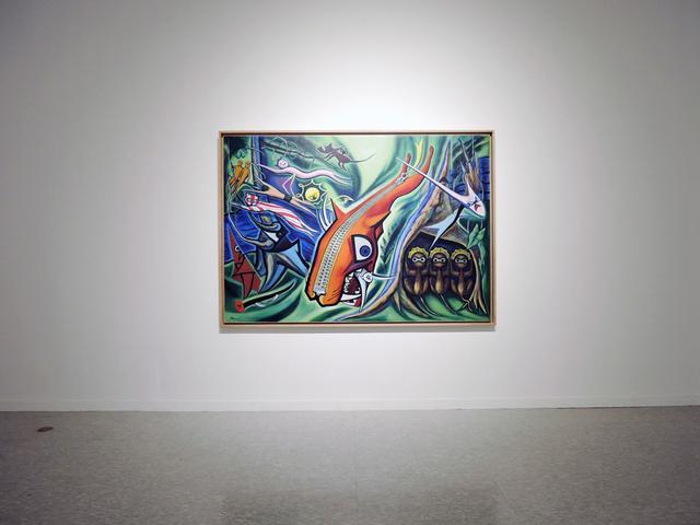画像: 岡本太郎 Okamoto Taro (1911-1996) 「森の掟」 油彩、カンヴァス 181.5x259.5cm  1950 所蔵:川崎市岡本太郎美術館