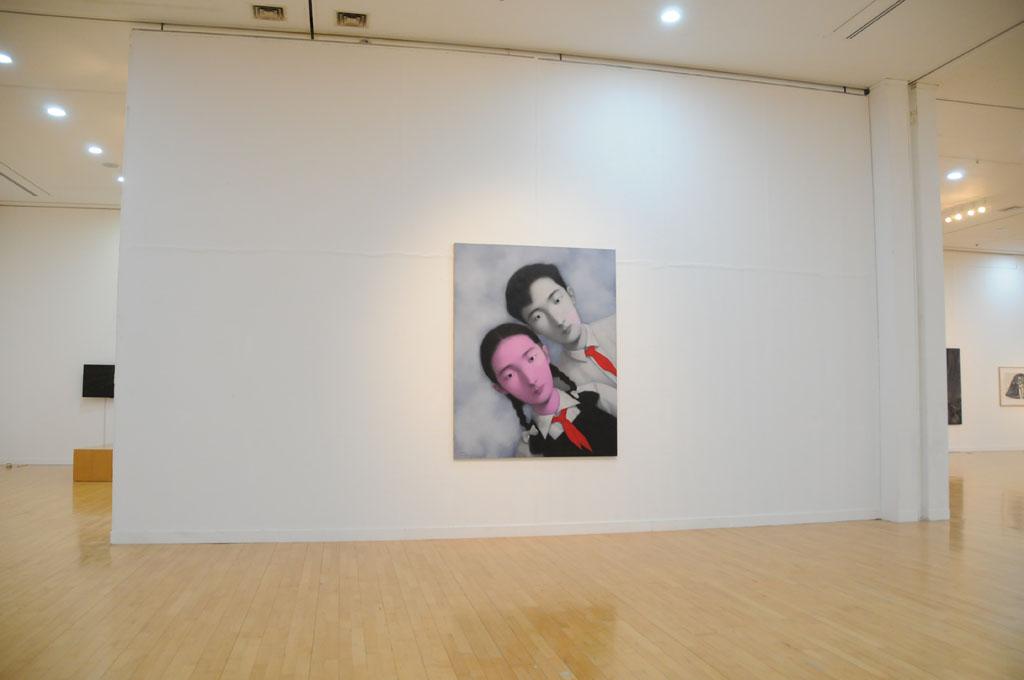 画像: 張曉剛 Zhang Xiaogang   (中国) Bloodline : Big Family No.3 Oil on canvas 190x150cm  1996
