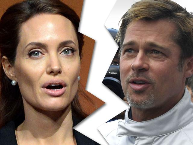 画像: Angelina Jolie -- Files for Divorce from Brad Pitt ... Allegations of Substance Abuse, Anger
