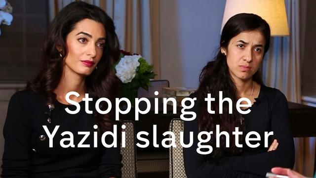 画像: Nadia Murad and Amal Clooney interview on Yazidis, President Assad and migration crisis youtu.be
