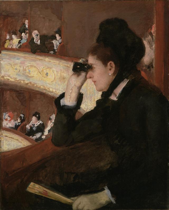 画像: 《桟敷席にて》1878年 油彩、カンヴァス 81.3×66.0cm ボストン美術館蔵 The Hayden Collection-Charles Henry Hayden Fund, 10.35. Photography © 2015 Museum of Fine Arts, Boston