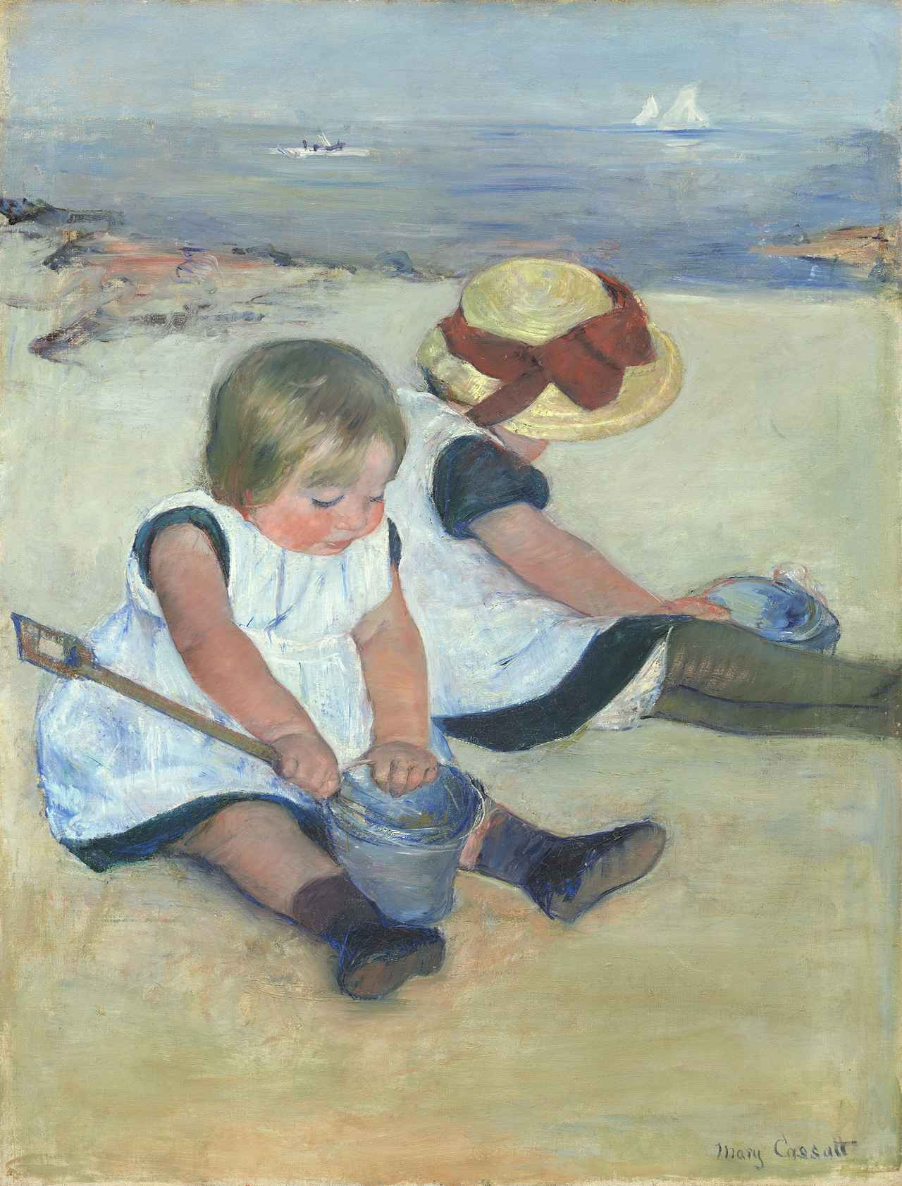 画像: 《浜辺で遊ぶ子どもたち》1884年 油彩、カンヴァス 97.4×74.2cm ワシントン・ナショナル・ギャラリー蔵 National Gallery of Art, Washington, Ailsa Mellon Bruce Collection, 1970.17.19