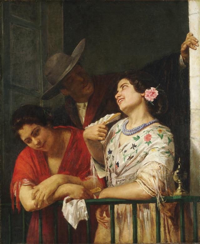 画像: 《バルコニーにて》1873年 油彩、カンヴァス 101.0×54.6cm フィラデルフィア美術館蔵 Courtesy of the Philadelphia Museum of Art, Gift of John G. Johnson for the W. P. Wilstach Collection, 1906