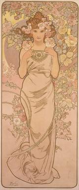 画像: 《四つの花「バラ」》 1897年 堺市