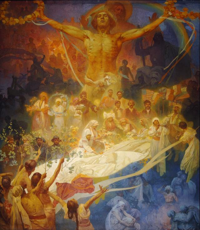 画像: 《スラヴ叙事詩「スラヴ民族の神格化」》 1926-28年 プラハ市立美術館 ©Prague City Gallery