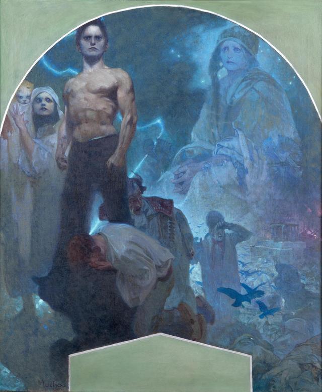 画像: 《自力Ⅱ 犠牲と勇気》プラハ市庁舎壁画(下絵) 1911年 プラハ市立美術館 ©Prague City Gallery