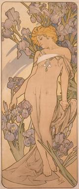 画像: 《四つの花「アイリス」》 1897年 堺市