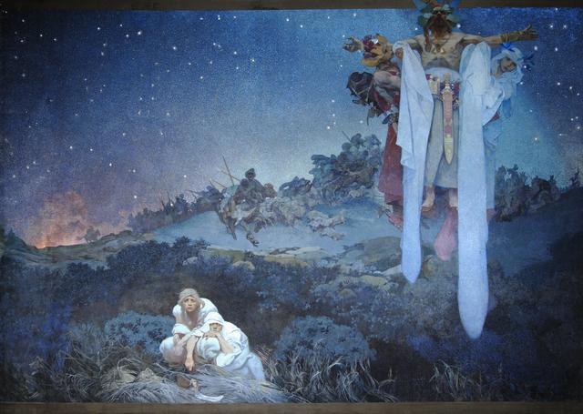 画像: 《スラヴ叙事詩「原故郷のスラヴ民族」》 1912年 プラハ市立美術館 ©Prague City Gallery