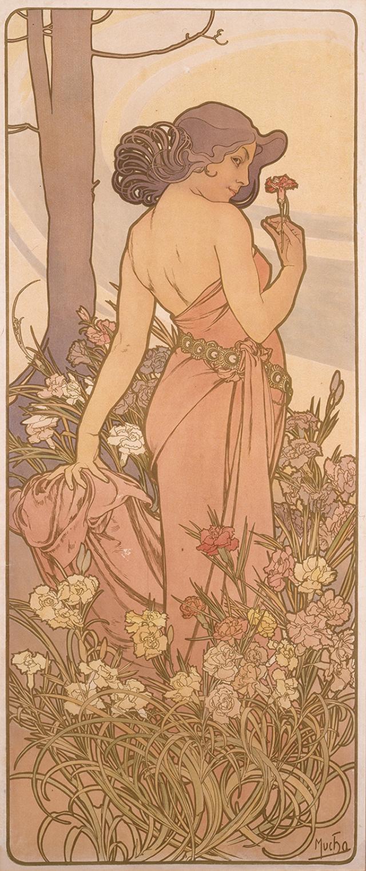 画像: 《四つの花「カーネーション」》 1897年 堺市