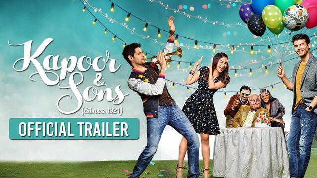画像: Kapoor & Sons | Official Trailer | Sidharth Malhotra, Alia Bhatt, Fawad Khan youtu.be