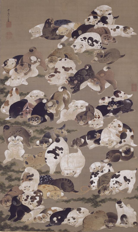 画像: 百犬図   個人蔵 (展示期間11/15~12/4)