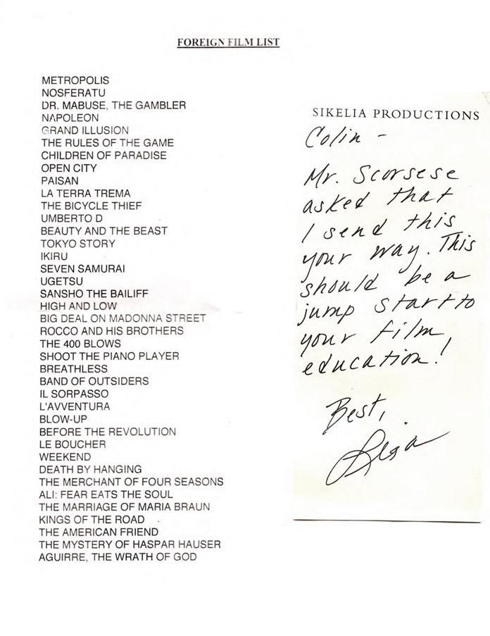 画像: 10年前のある映画のリストが、今年になって話題になったのをご存知でしょうか。 それは、マーティン・スコセッシ監督が、 映画監督志望の高校生に送った観るべき映画のリストでした。