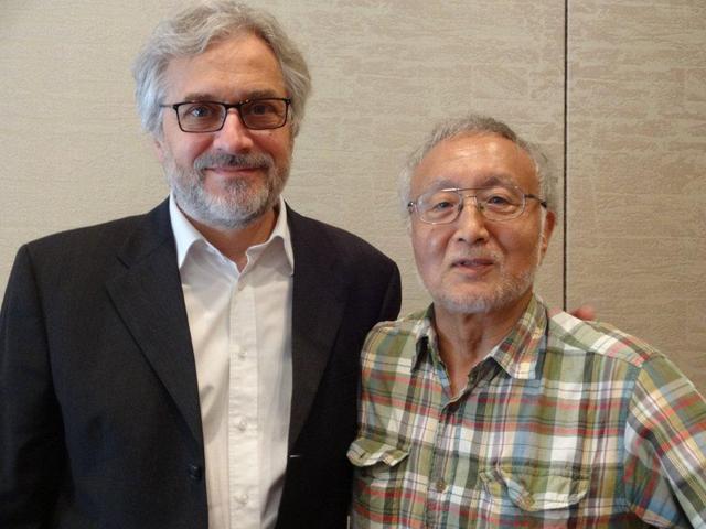 画像: 筆者とマイケル・ドゥ・ヴィット監督