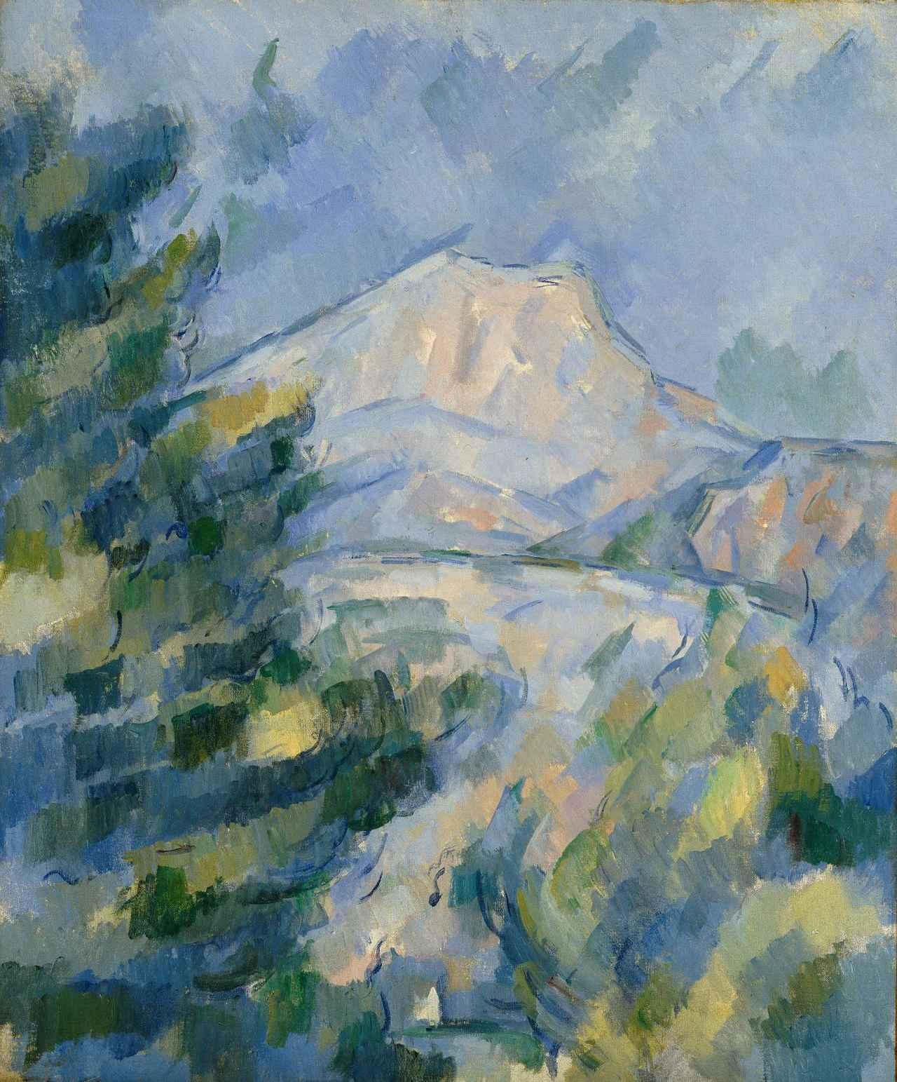 画像: 「サント=ヴィクトワール山」 ポール・セザンヌ 1904-1906年頃 Bequest of Robert H. Tannahill