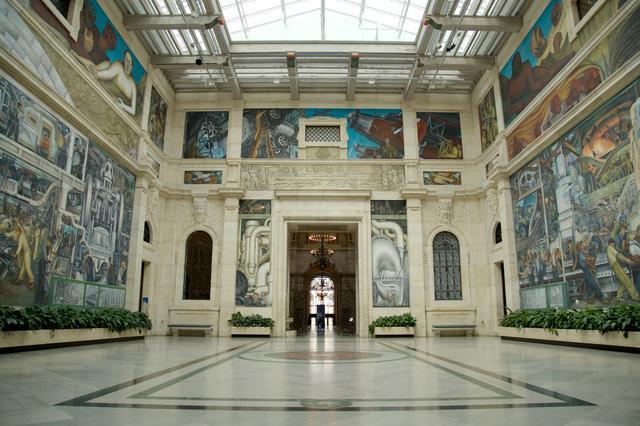 画像: 「デトロイト美術館内観」 アメリカ・デトロイト美術館内 The Rivera Court Photo by Salwan Georges