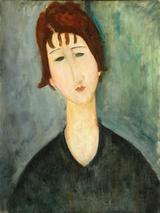 画像: 「女の肖像」 アメデオ・モディリアーニ 1917-1920 City of Detroit Purchase