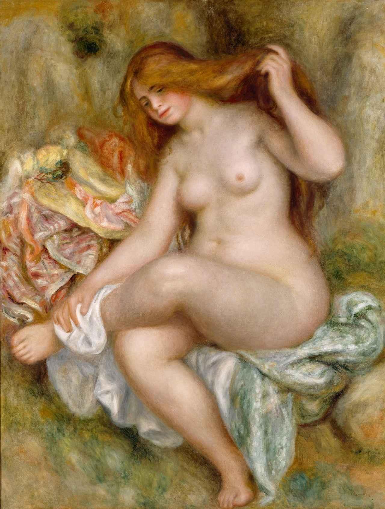 画像: 「座る浴女」 ピエール・オーギュスト・ルノワール 1903-1906年 Bequest of Robert H. Tannahill