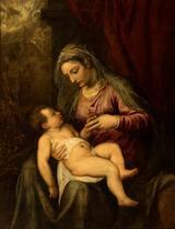 画像: ティツィアーノ・ヴェチェッリオ《聖母子(アルベルティ―ニの聖母)》油彩/カンヴァス