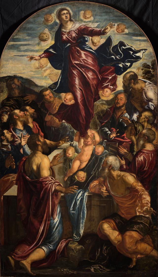 画像: ヤコポ・ティントレット(本名ヤコポ・ロブスティ)《聖母被昇天》油彩/カンヴァス