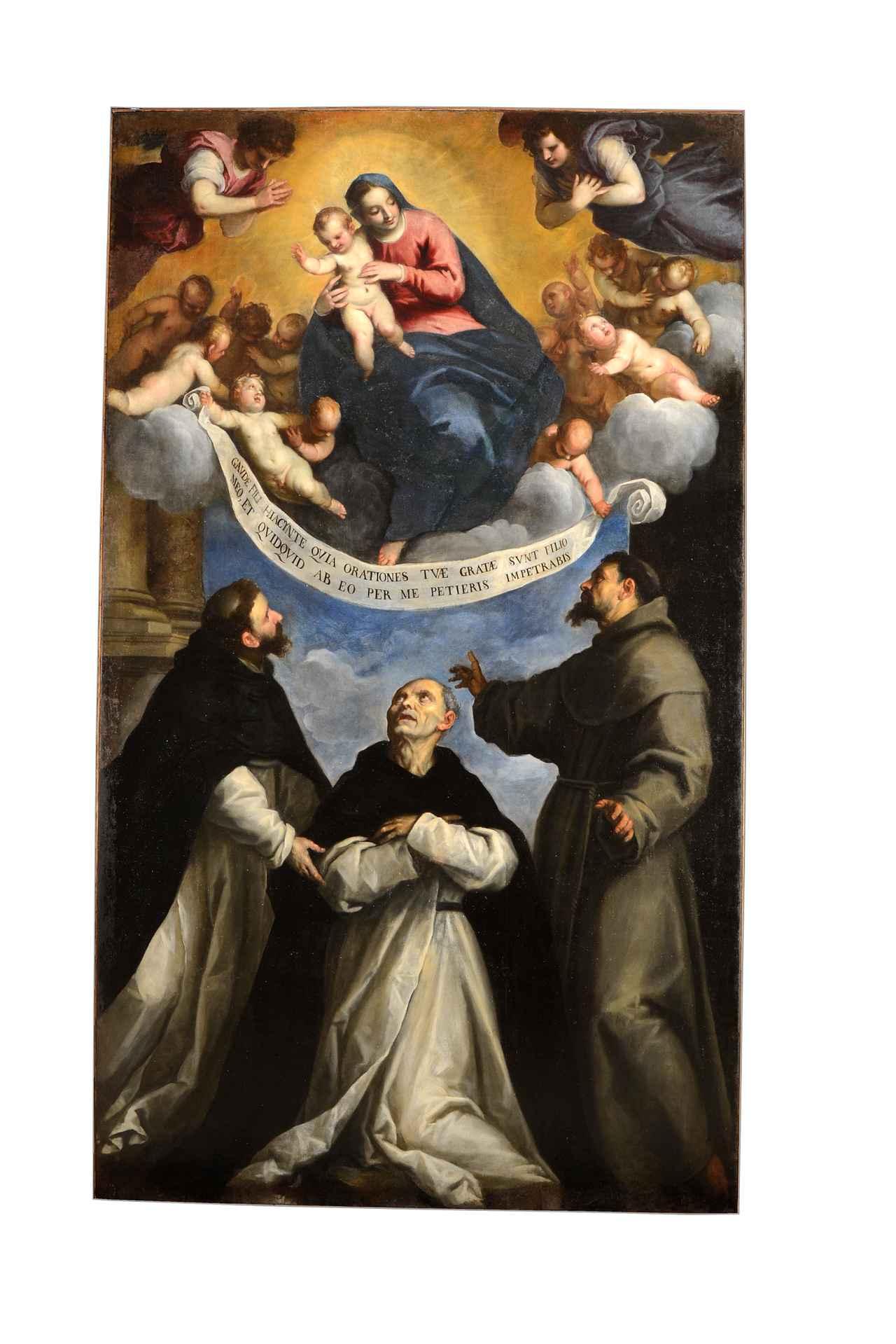 画像: パルマ・イル・ジョーヴァネ(本名ヤコポ・ネグレッティ)《聖母子と聖ドミニクス、聖ヒュアキントゥス、聖フランチェスコ》油彩/カンヴァス