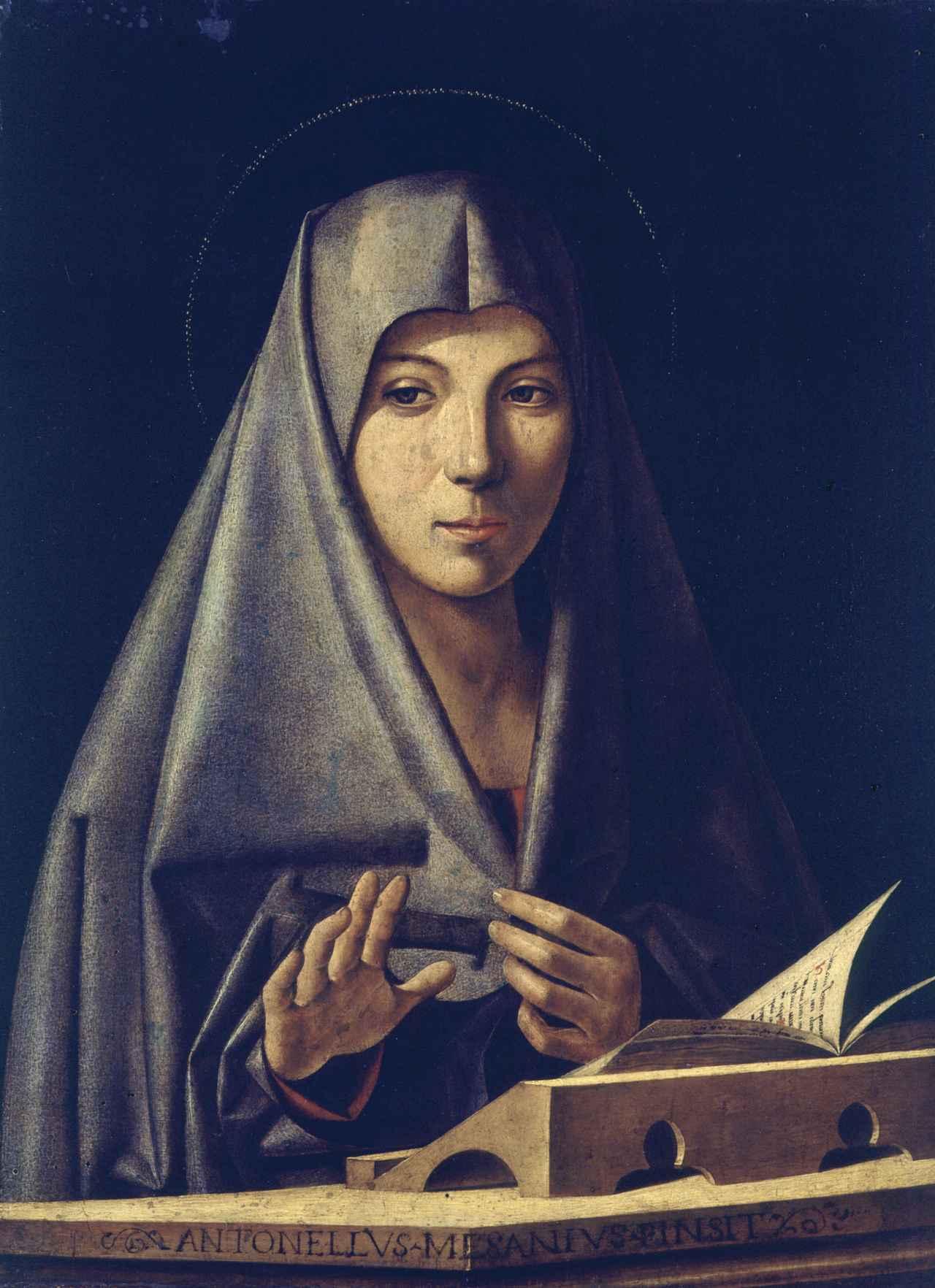 画像: アントニオ・デ・サリバ(別名 アントネッロ・デ・サリバ)《受胎告知の聖母》テンペラと油彩/板
