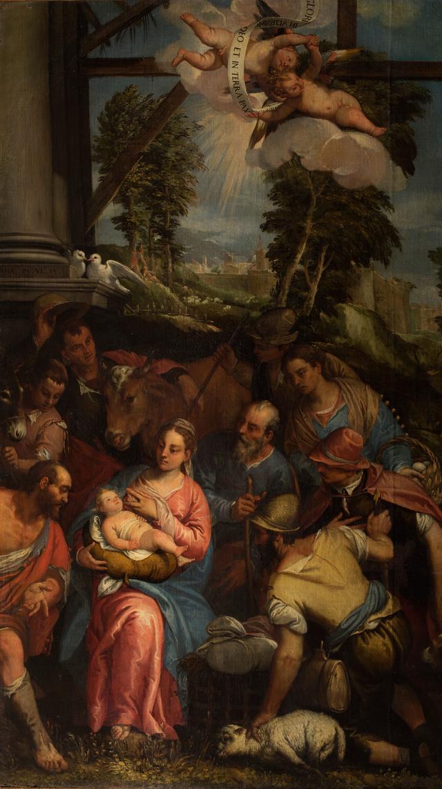 画像: パオロ・ヴェロネーゼ(本名パオロ・カリアーリ)の工房《羊飼いの礼拝》油彩/カンヴァス