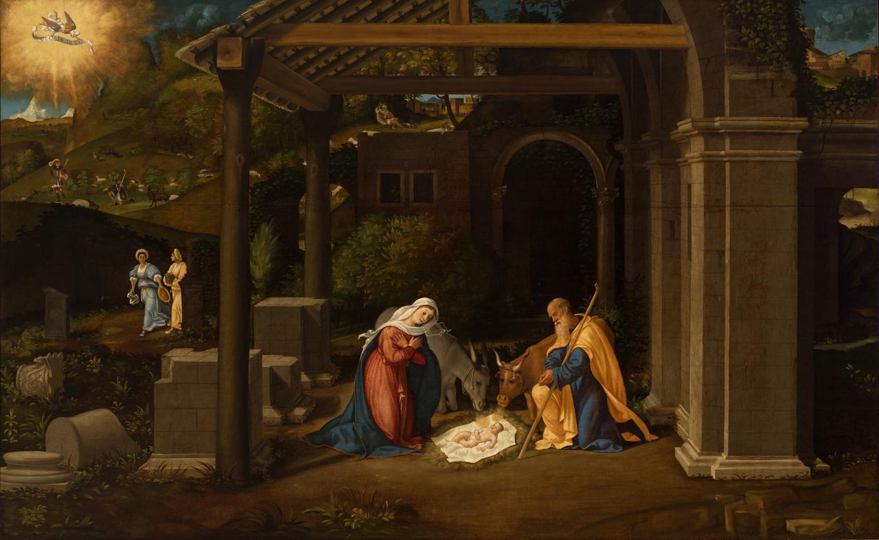 画像: アンドレア・プレヴィターリ《キリストの降誕》油彩/カンヴァス