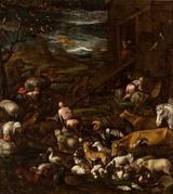 画像: ヤコポ・バッサーノ(本名ヤコポ・ダル・ポンテ)と工房《ノアの箱舟に入っていく動物たち》油彩/カンヴァス