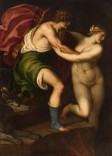 画像: パドヴァニーノ(本名アレッサンドロ・ヴァロターリ)《オルフェウスとエウリュディケ》油彩/カンヴァス