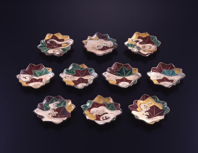 画像: 色絵竜田川図向付 10客 江戸時代 18世紀 MIHO MUSEUM
