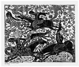 画像: 《華狩頌》昭和29年(1954)年 青森市蔵(棟方志功記念館寄託)