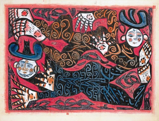 画像: 《飛神の柵(御志羅)》昭和43年(1968)年 棟方志功記念館蔵