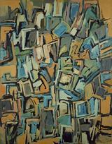 画像: 《Work B.125》1956年 油彩・キャンバス 117×91㎝ 宇都宮美術館蔵