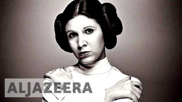 "画像: Star Wars actress Carrie Fisher ""Princess leila"" dies at 60 youtu.be"