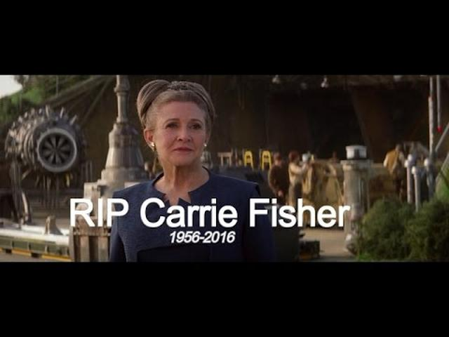 画像: Star Wars RIP PRINCESS LEIA (CARRIE FISHER) (1956-2016) youtu.be